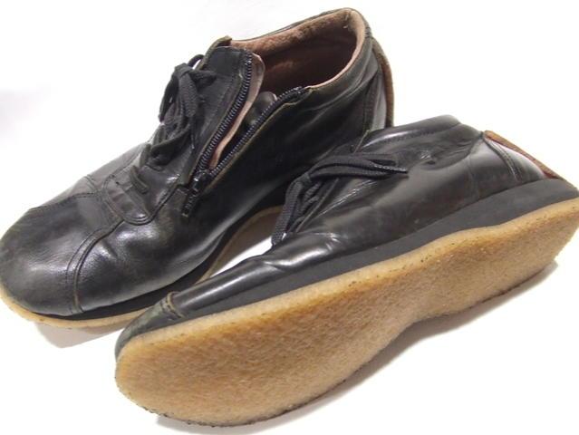 靴修理 クレープ底のオールソール