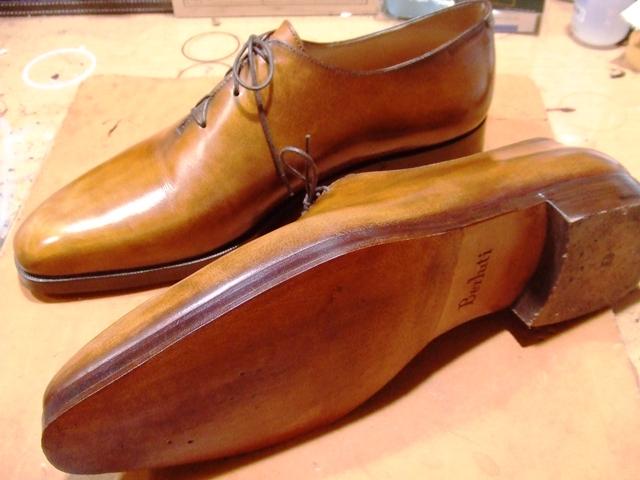 靴修理 ベルルッティ 革ハーフソール