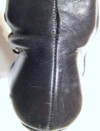 靴修理:ブーツのかかと ほつれ