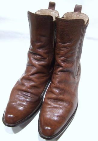 靴クリーニング:ハーフブーツ修正後