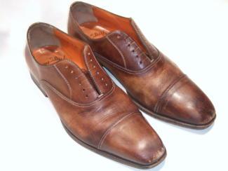 つま先キズの紳士靴1